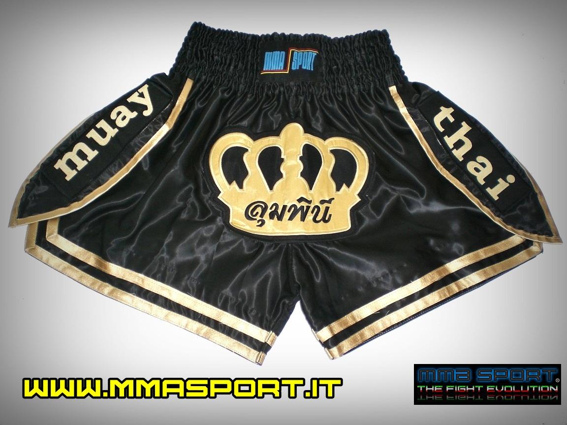 mmasport Muay Thai Shorts Pantaloncini Thai Boxe Kick Boxing MMA Satinati Teschio